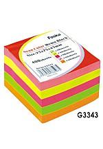 Цавуутай тэмдэглэл цаас цуглуулга G3343 75*75мм neon